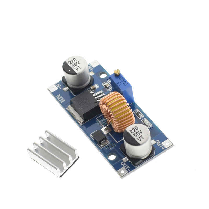5Pcs 5A Xl4015 Dc-Dc 4-38V To 1.25-36V 24V 12V 9V 5V Step Down Adjustable Power Supply Module Led Lithium Charger With Heat Si
