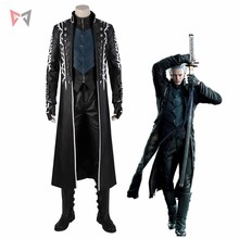 ManManGuGu Devil May Cry 5 Vergil Cosplay Costume Game Halloween Outfit Pu Leather