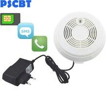 PSCBT SMS Smoke Sensor GSM Fire Alarm Sensor Smoke Detector GSM SIM Card Message Call Number Fire Detector