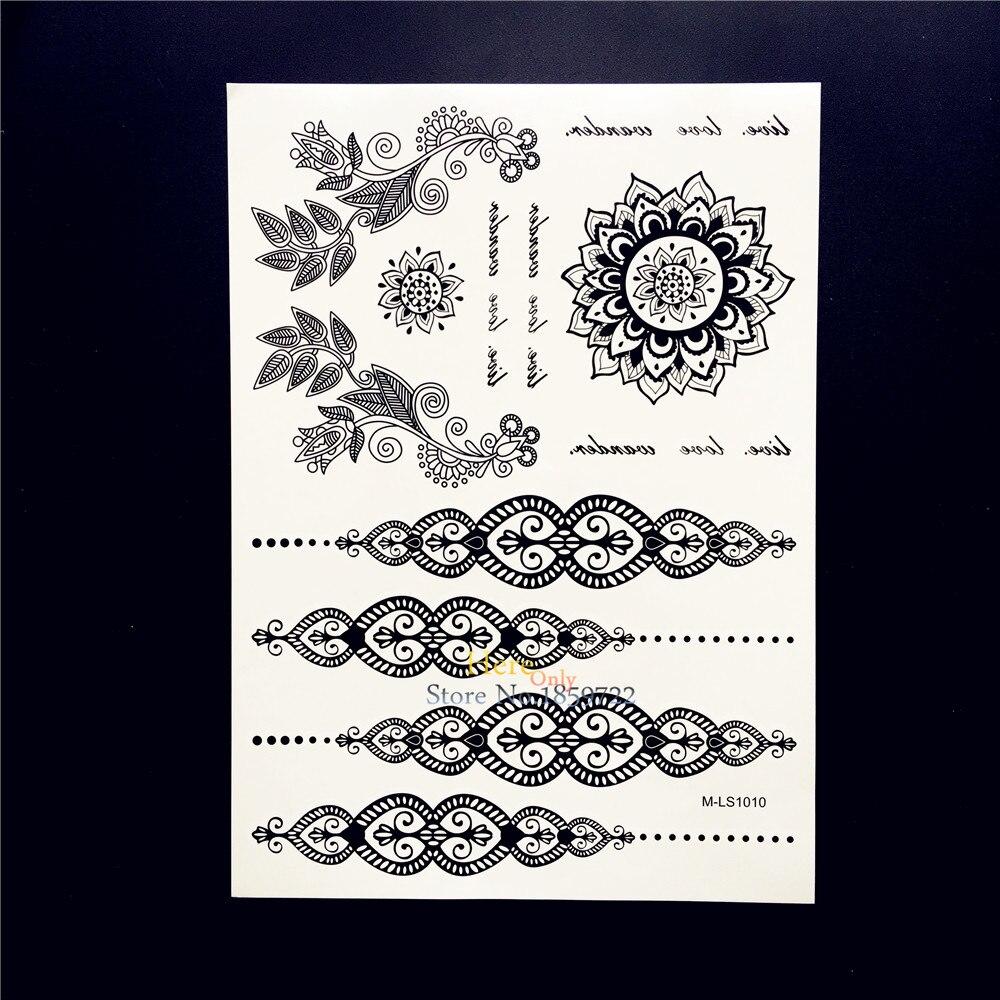 Henna Tattoo Schwarz Allergie: 25 Stile Schwarz Mandala Henna Tattoo Für Frauen