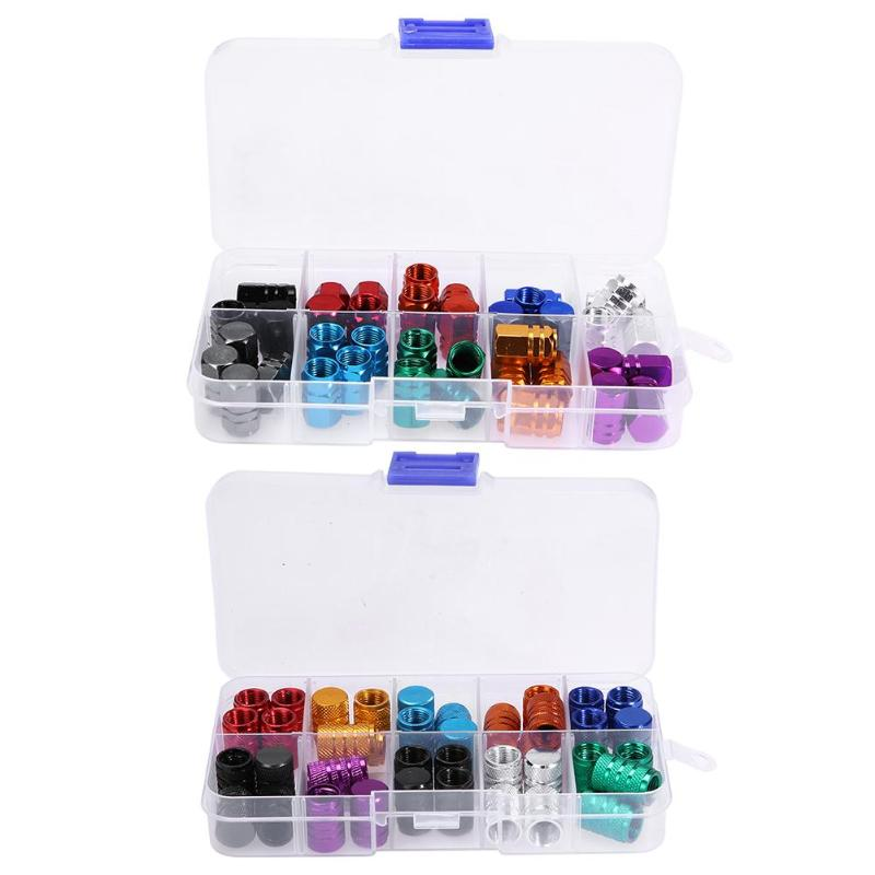 40pcs Colorful Aluminum Alloy Airtight Car Auto Wheel Tire Tyre Schrader Valve Stem Caps Dust Covers Car Valve Stem Caps Accessy myofunctional infant trainer phase ii hard oringal made in australia infant primary dentition trainer girls