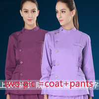 2016 Europe Fashion Medical Suit Lab Coat Women Hospital Scrub Uniforms Set Design Slim Fit Breathable