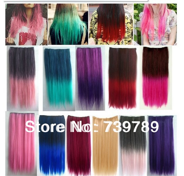 Colored Hair Extensions Fashion Women Long Hair Extension Suppliers