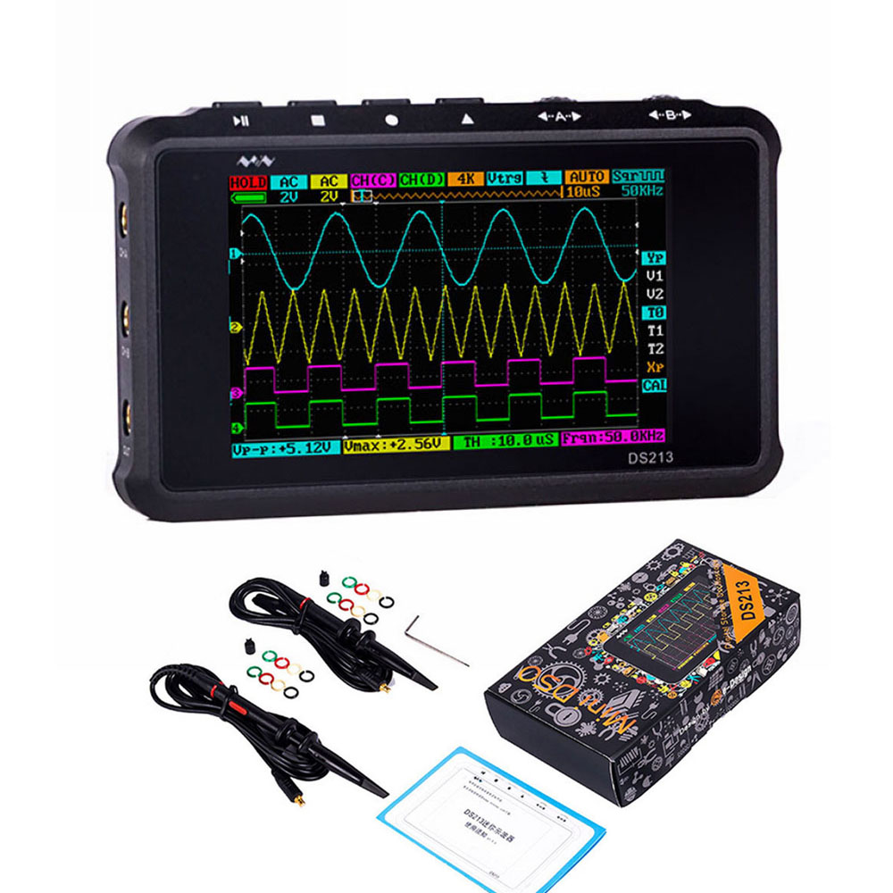 DS213/DS212 <font><b>MINI</b></font> Handheld LED Display Digital Storage <font><b>Oscilloscope</b></font> DSO 4 Channel 100MS/S Update From <font><b>DS203</b></font> DSO203 DS212 DSO212 image
