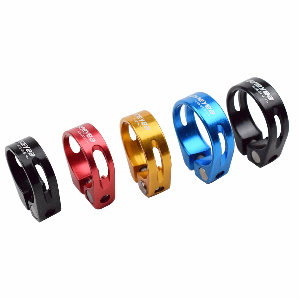 Alloy Road Bicycle Seat Post Clamp Bicycle Parts 28.6mm/30.2mm/31.8mm/34.9mm Seat Pipe Clamp MTB Bike Seatpost Clamps 5 Colors
