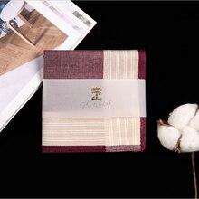 Square Multicolor Hanky Men Classic Vintage Handkerchiefs Pocket Plaid 43*43cm