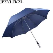 JPZYLFKZL Creative parapluie strong windproof Semi automatic long umbrella men large Outdoor man and womens Business umbrellas