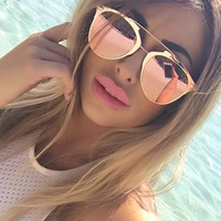 2015 Reflected Vintage Metal Frame Sunglasses Women Brand Designer Glasses Fashion Men Classic Mirror Eyewear Oculos
