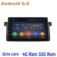 Octa core PX5 Android 8.0 car radio gps player for E46 m3 BMW 3 SERIES 318 320i 330 with 4G RAM 32G ROM wifi 4g usb Multimedia