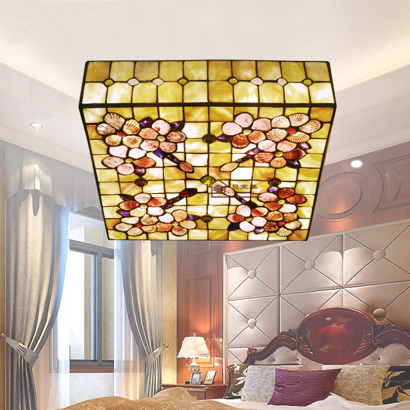 European Style Natural Shell Lamp Bedroom Ceiling Light Fixture 12 Inch 16  Inch Square Tiffany LED. Online Buy Wholesale bedroom ceiling fixtures from China bedroom