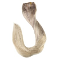 Full Shine 9Pcs Clip In Human Hair Extensions Balayage Hair Extension Clip Ins 100% Real Remy Hair Extensions Brazilian Hair