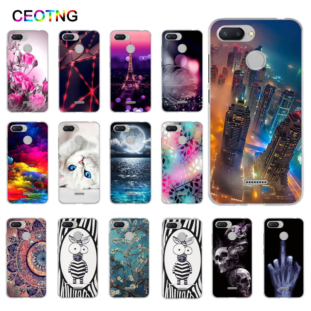 For Xiaomi Redmi 6 Case Soft Silicone TPU Back Phone Covers For Xiaomi REDMI6 Redmi6 Cases Shells For Xiaomi Redmi 6A Case Cover