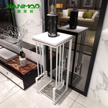 Simple Chinese cat home side Tower minimalist coffee table corner a few small entrance station racks wrought iron flower teasid