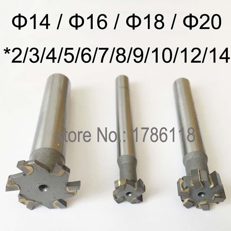 Carbide Tipped T Slot Cutter, Welding Carbide T Cutter, Welded Carbide T Cutter14mm 16mm 18mm 20mm*2,3,4,5,6,7,8,9,10,12,14mm