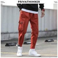 Privathinker Men Ankel Length Cargo Pants 2018 Mens Japanese Streetwear Trousers Male Korean Fashions Pocket Hip Hop Sweatpants