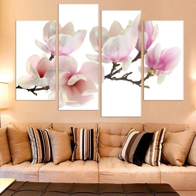 Sin marco 4 Unidades Magnolia Flores Imprimir Pintura Moderna Del ...
