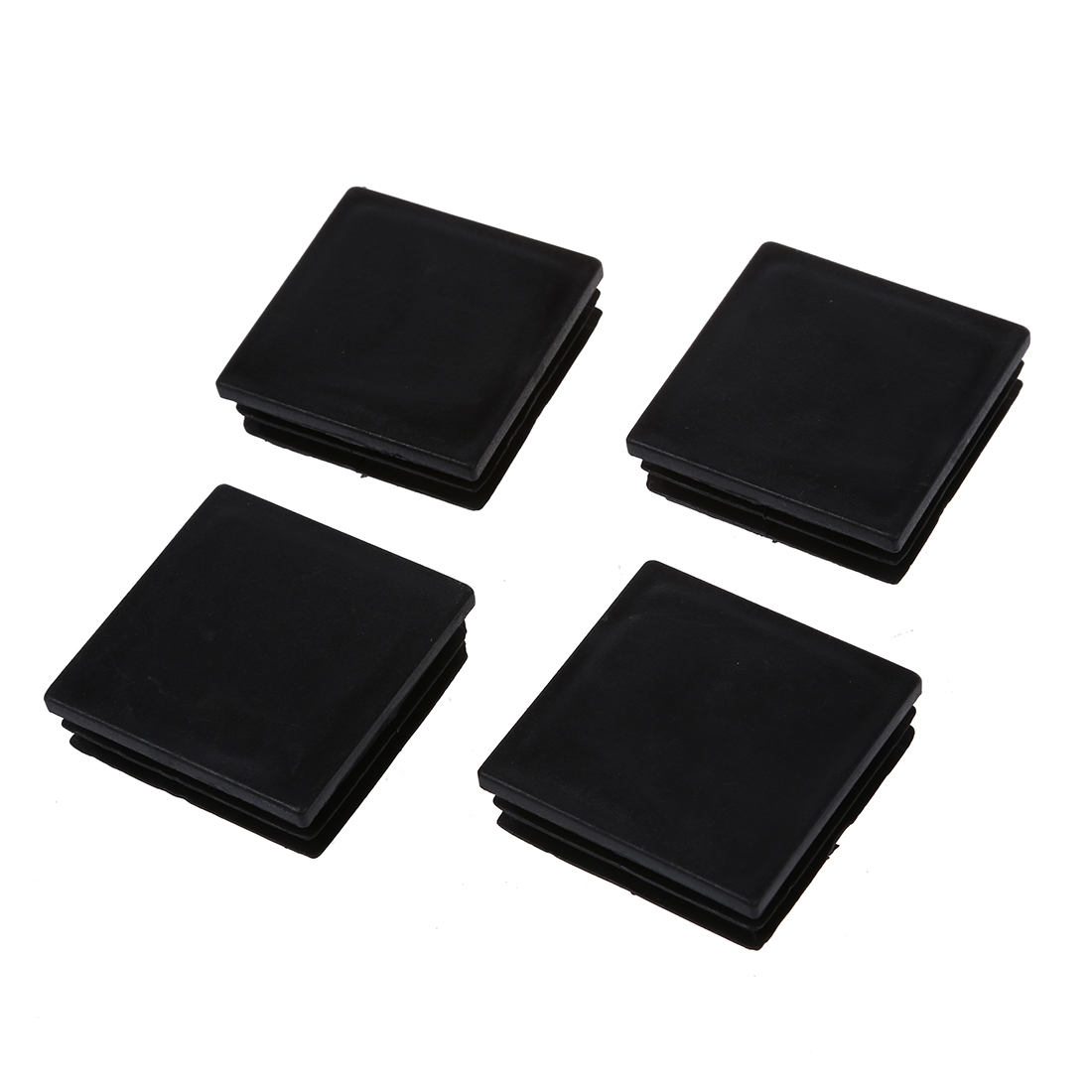4Pcs Black Plastic Blanking End Caps Square Inserts For Tube Pipe Box Section Wholesales