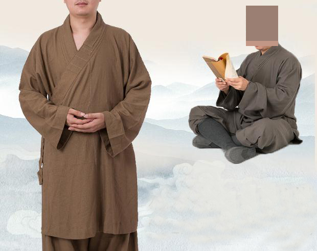 UNISEX linen shaolin monks kung fu suits lohan arhat marital arts uniforms buddhist zen lay monk
