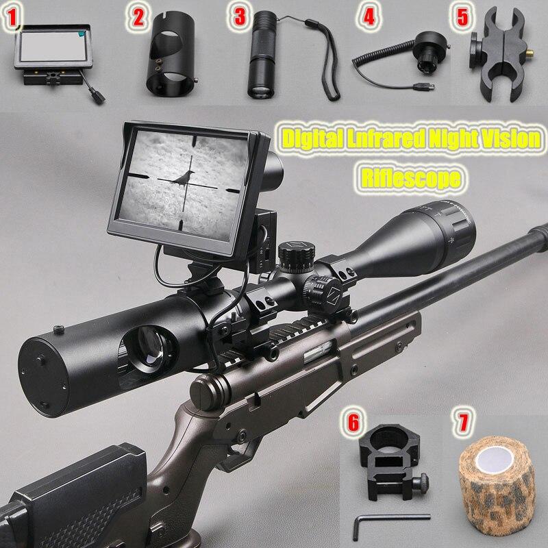 Охота оптика Red Dot прицел ScopeTactical цифровой Lnfrared Ночное видение прицел Применение в день и ночь прицел