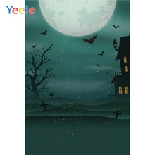 Yeele Moon Bats Halloween Party Dark Night Portrait Photography Backdrops Personalized Photographic Backgrounds For Photo Studio