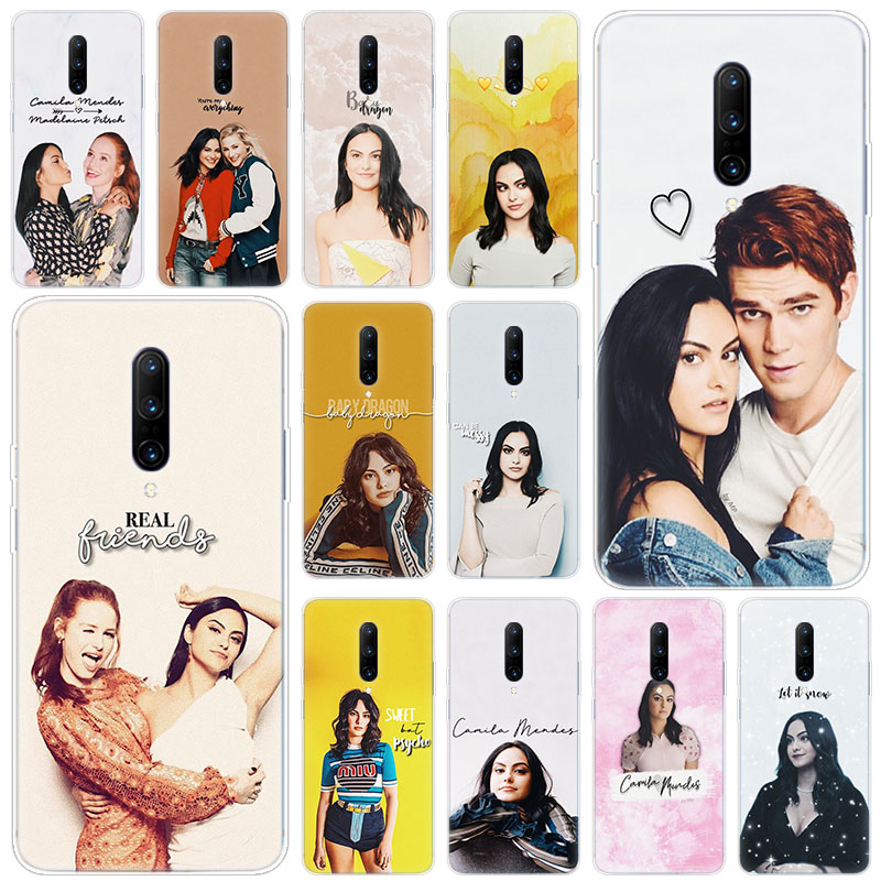 Hot Camila Mendes Riverdale Soft Silicone Fashion Transparent Case For font b OnePlus b font font