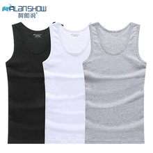 Baumwolle Ärmelloses Unterhemd Gym Tank Top Männer Fitness Shirts Mens Bodybuilding Workout Weste Factory Outlet(China)