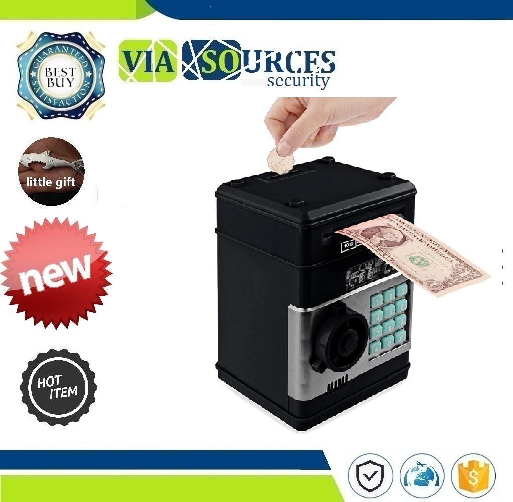 Bank ATM Password Money Box Cash Coins Saving Box ATM Bank Safe Box Electronic Piggy Automatic Deposit Banknote Christmas Gift