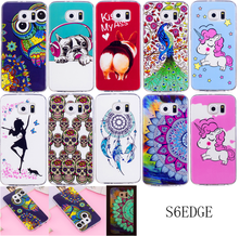 hot deal buy for samsung s6 edge s6edge silicone case luminous animal anime tpu gel back cover phone case for samsung galaxy s6 edge g925f