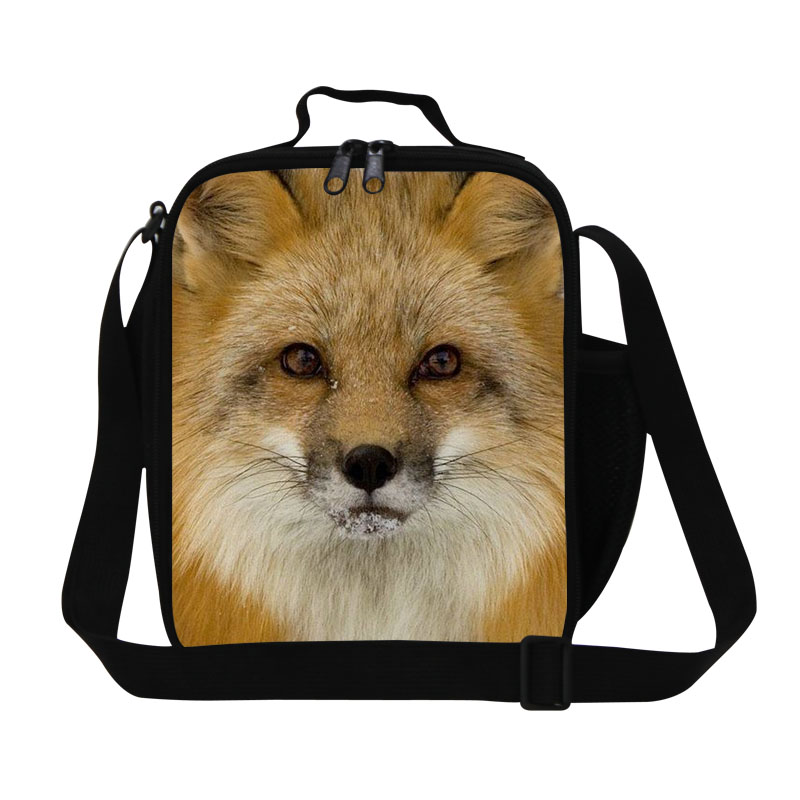 Dollar Price Animal Print Mens Small Lunch Bags Cool Fox Insulated Lunch Box Kids Thermal Casual Picnic Food Bag Bolsa Termica
