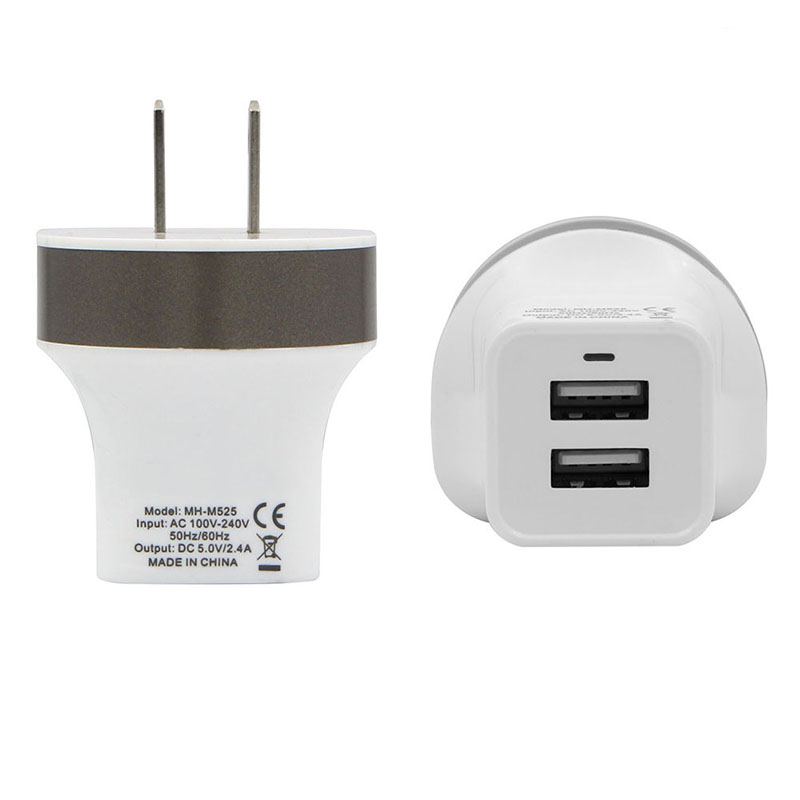 MaxPhone MH-M525 5V 2.4A double chargeur mural USB prise de chargeur - Pièces détachées et accessoires pour téléphones portables - Photo 3