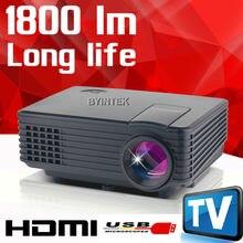 2016 Mejor Nueva HD 1080 P de Vídeo LCD tv Digital HDMI USB de Cine En Casa Portátil mini LED piCO Proyector Projektor proyector Beamer