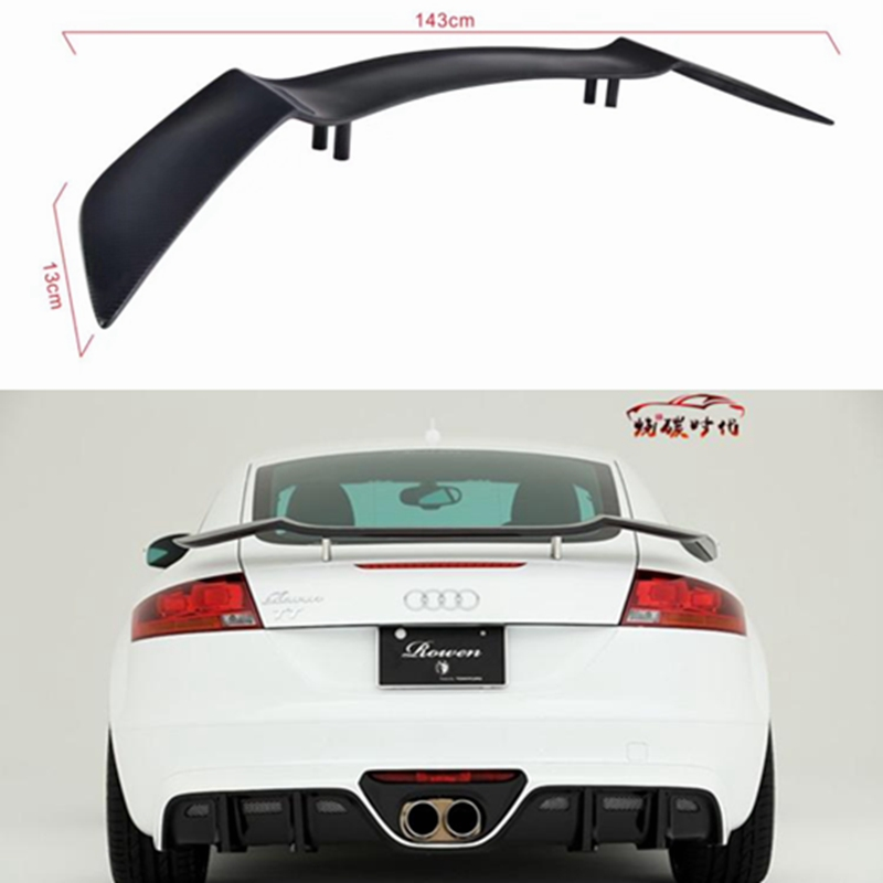 Tt Style Carbon Fiber Rear Spoiler For 2015 2019: Carbon Fiber CAR REAR WING TRUNK SPOILER FOR Audi TT TTS