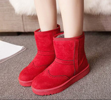 5..2016 Fashion  Women Winter Snow Boots keep Warm Boots Plush  boot Snow Work Shoes Women's Outdoor Snow Boots 36-40