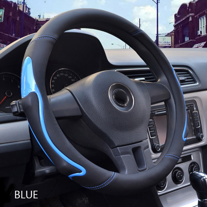 1 Pcs Automotive interior protection accessory fashionable Antiskid three colors of Car Steering Wheel Cover for most of cars