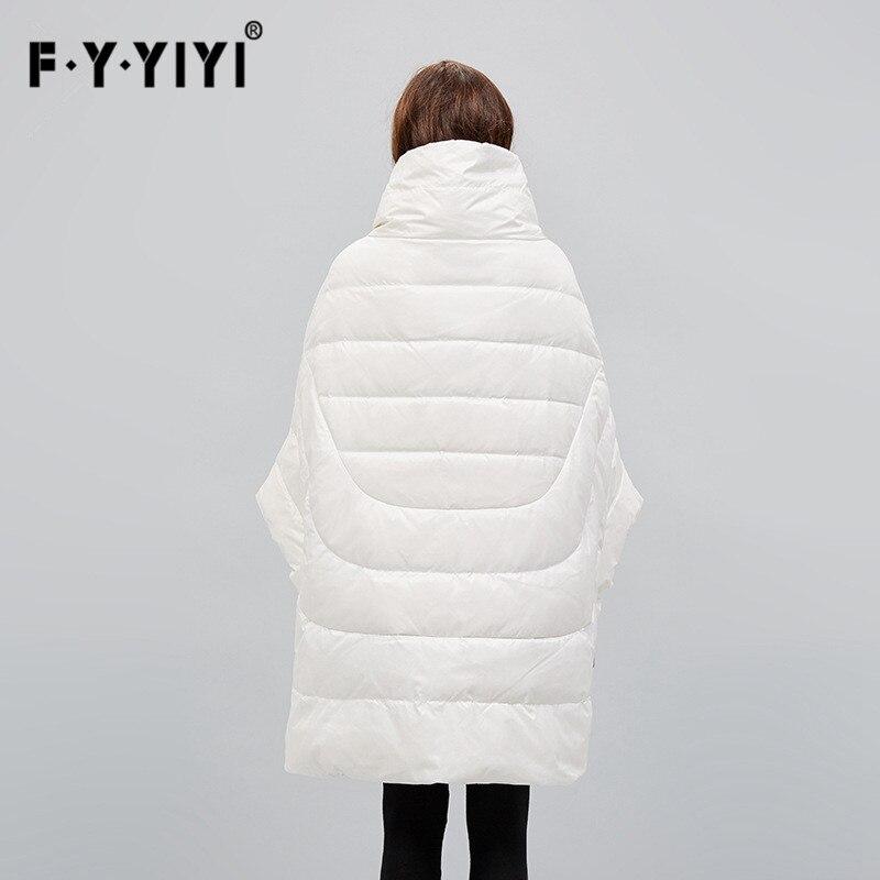 Haut De Américain Doudoune Pour souris Section Style Européenne Manteau blanc Longue Type Lâche Col Noir Long Femmes Et Femme Chauve OX8x5P