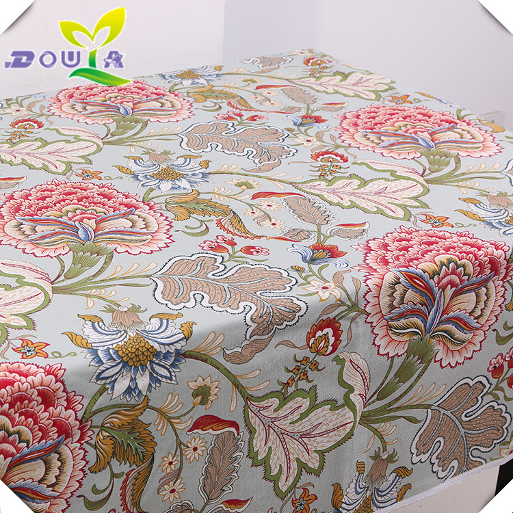 Factory direct sales of 2017 new American style big flower canvas fabric sofa cover tablecloth curtain fabric spot wholesale