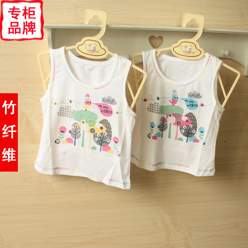 Bamboo fibre baby summer newborn clothes child sleeveless spaghetti strap top baby vest 82320