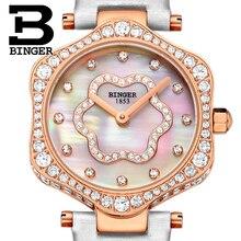 2017 Switzerland BINGER Women Watches Luxury Brand Quartz Waterproof Watch Woman Sapphire Wristwatches relogio feminino B1150-7
