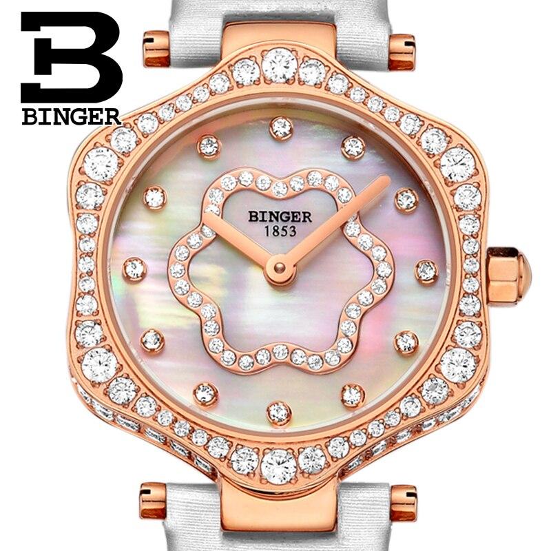 2018 schweiz BINGER Frauen Uhren Luxus Marke Quarz Wasserdichte Uhr Frau Sapphire Armbanduhren relogio feminino B1150 7