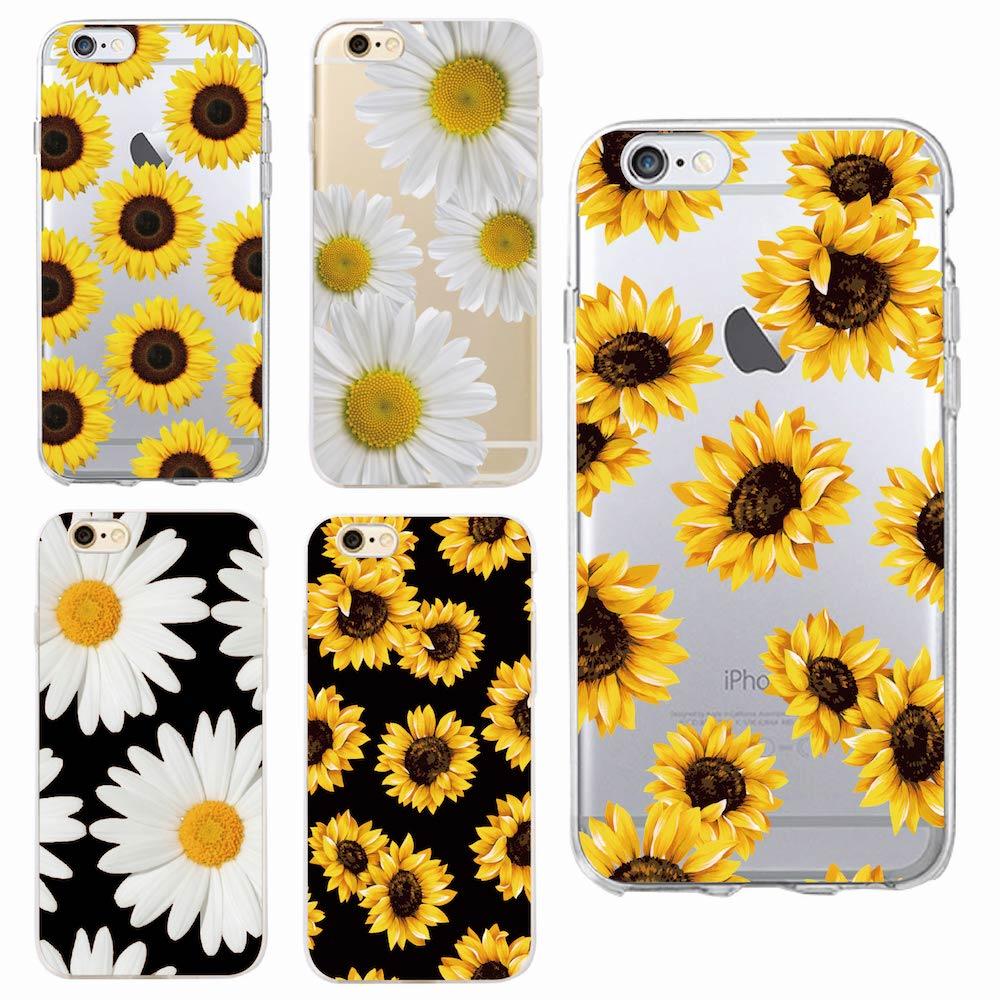Милые летние Дейзи Подсолнечник Цветочный Мягкий Прозрачный чехол для телефона Fundas Коке для iPhone 7 7 Plus 6 6 S 6 Plus 8 8 PLUS X SAMSUNG