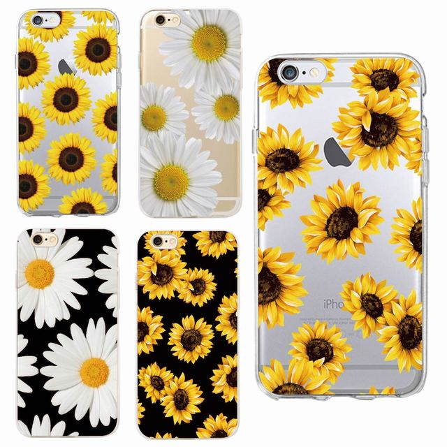 Cute Summer Daisy Sunflower Floral Flower Soft Clear Phone