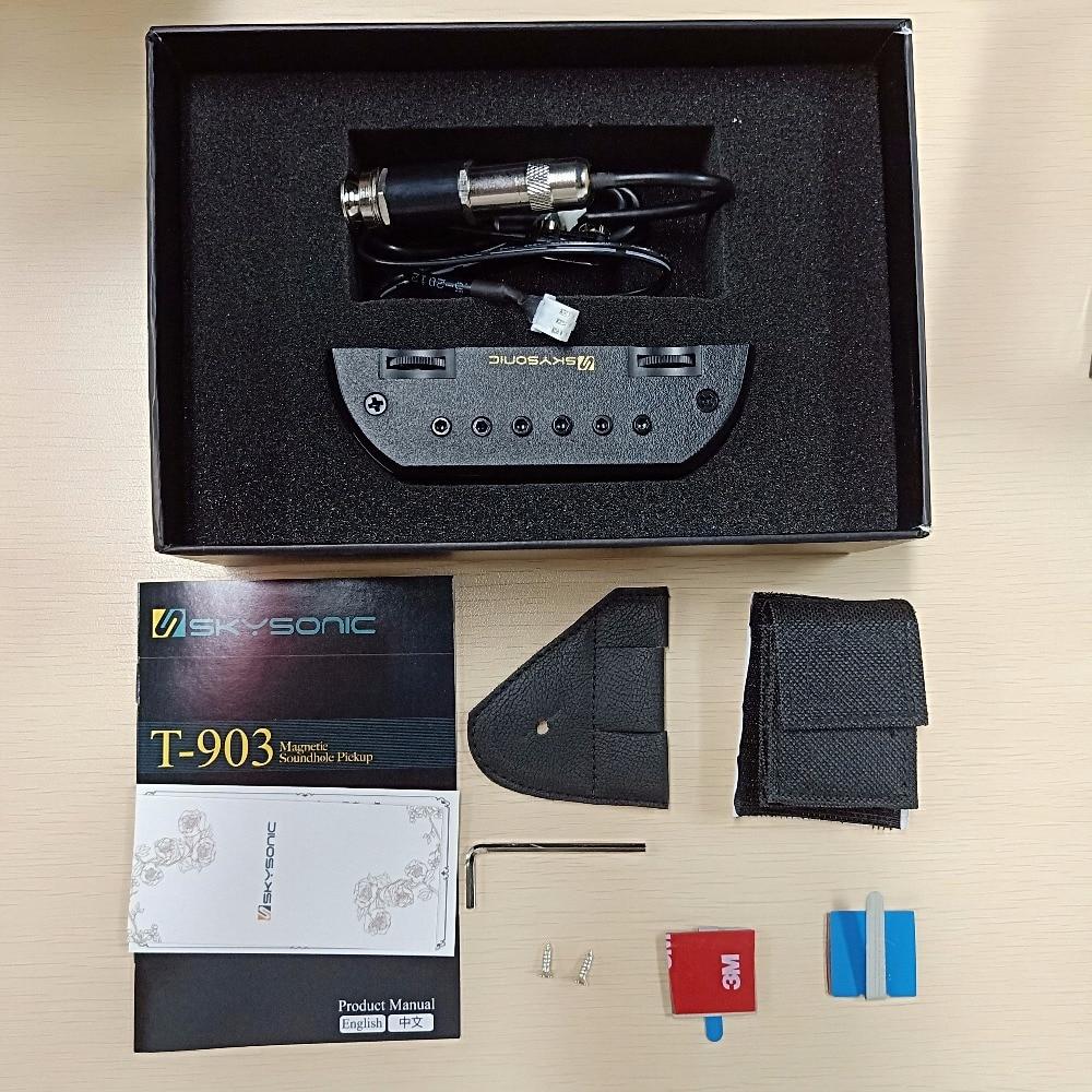 Système de préampli Skysonic T-903 pick-up excellente réponse basse et milieu de gamme adaptée aux porte-crochets de guitare solo