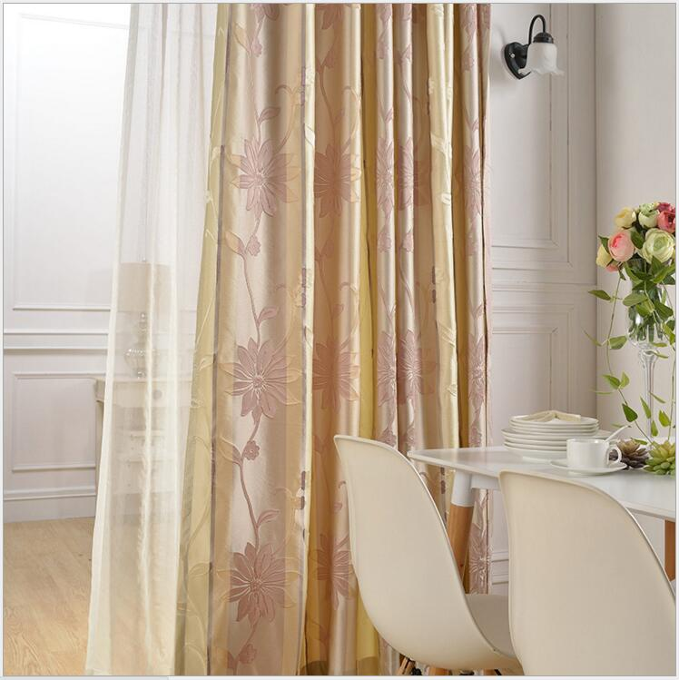 mode doek blind gordijn vintage geborduurde eenvoudige europese 3d bloem decoratie gordijnen woonkamer