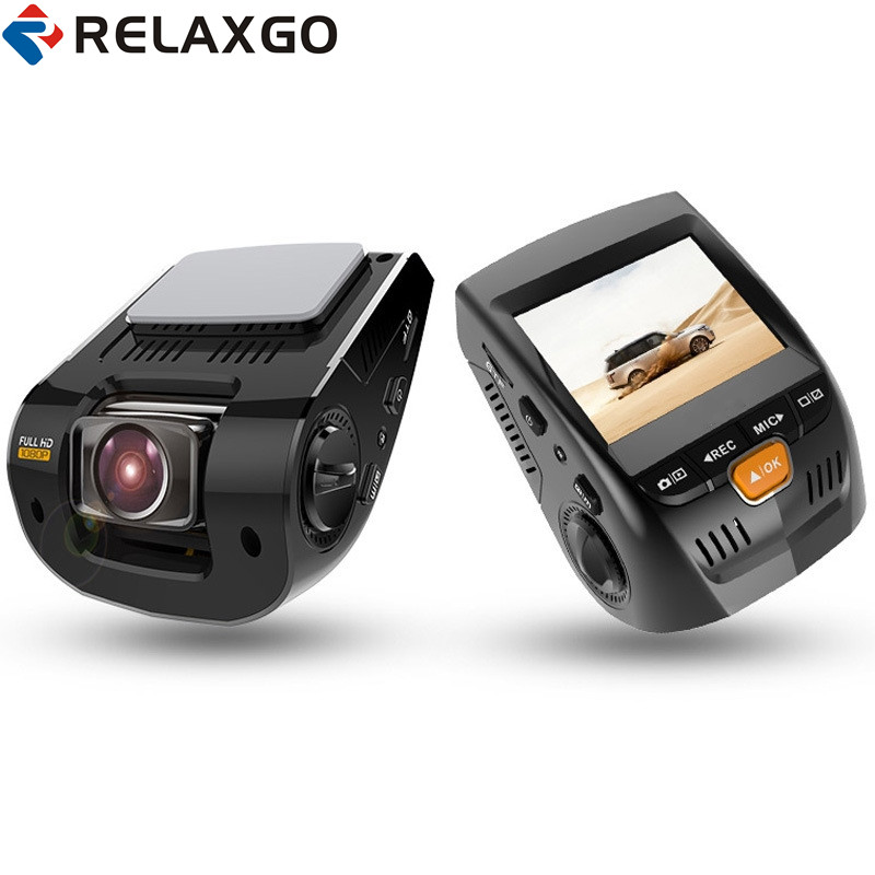 Relaxgo 2.4 Mini Car DVR GPS Tracker Dash Cam Full HD 1080P Car Camera Video Recorder Night Vision Black Box Auto Registrators