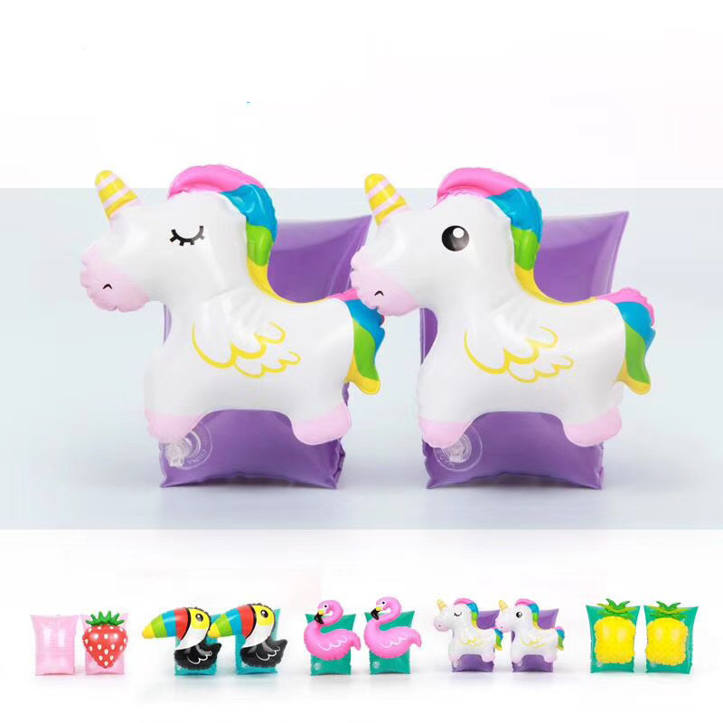 Inflatable Unicorn Baby Arm Floats - Swim Arm Bands Circle Floaties