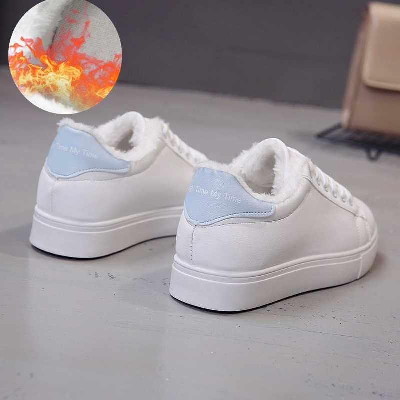 4b3765947 ... 2018 Весенние новые дизайнерские белые туфли на танкетке женские  кроссовки на платформе женские tenis feminino повседневные ...