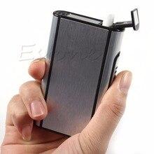 Metal Box Aluminum Pocket Cigarette Case Automatic Ejection Holder