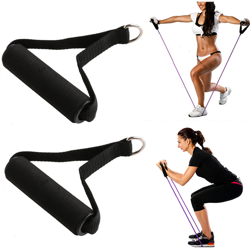 Tricep Rope Cable Attachment Handle V Bar Dip Station Resistance Exercise Sport 2pcs