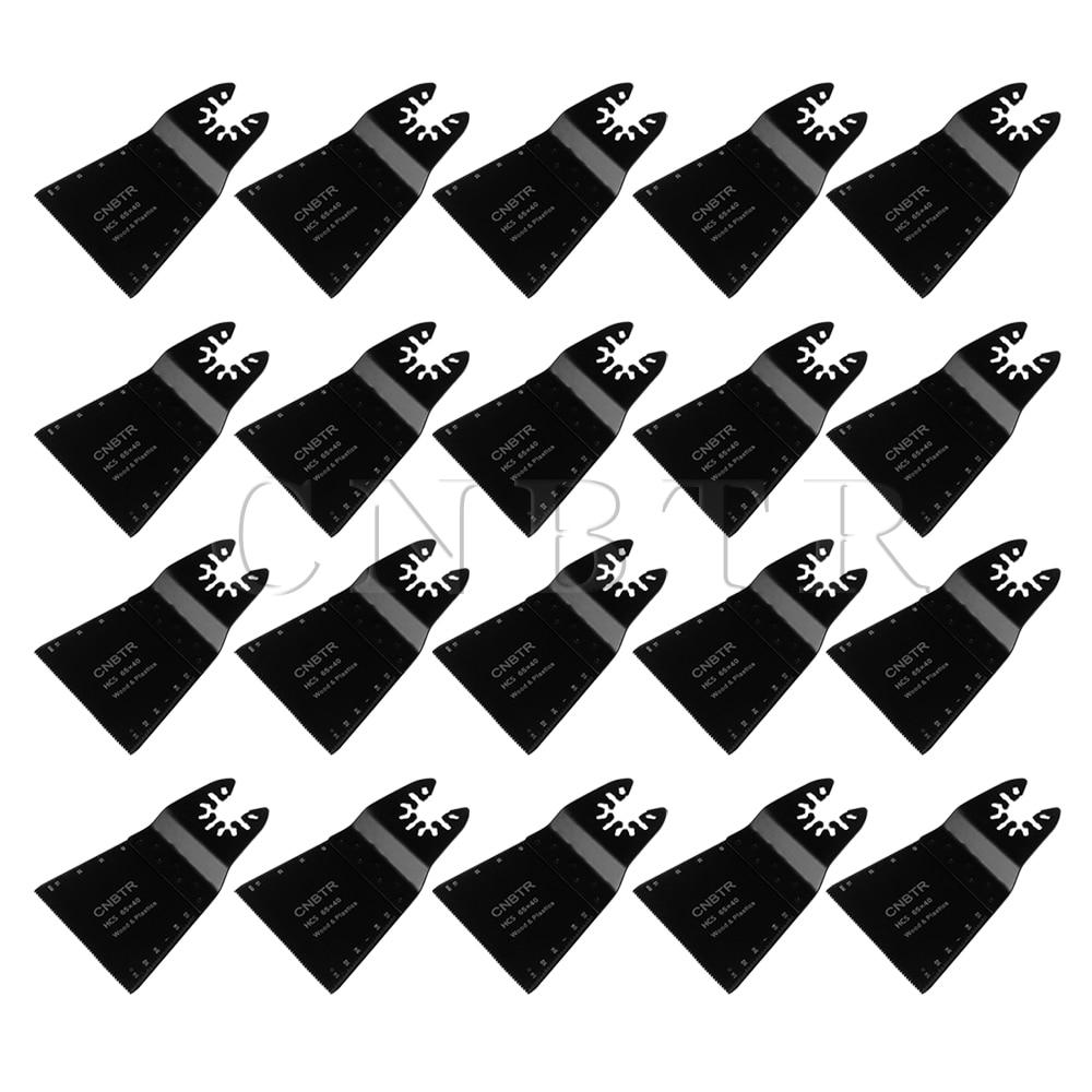 ФОТО CNBTR 65x40mm HCS Oscillating Multitool Quick Release Saw Blades Set of 20