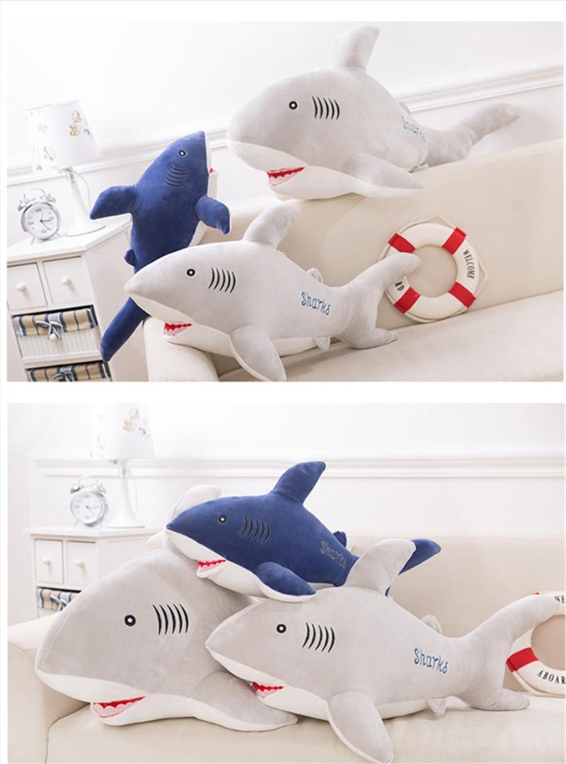 New Style Shark Plush Toys Big Fish Cloth Doll Whale Soft Stuffed Plush Animals Doll Children Birthday Gift 14